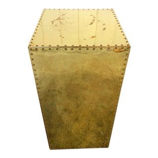 Sarreid Brass Pedestal For Sale