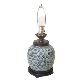 19th Century Chinese Porcelain Ginger Jar Lamp For Sale