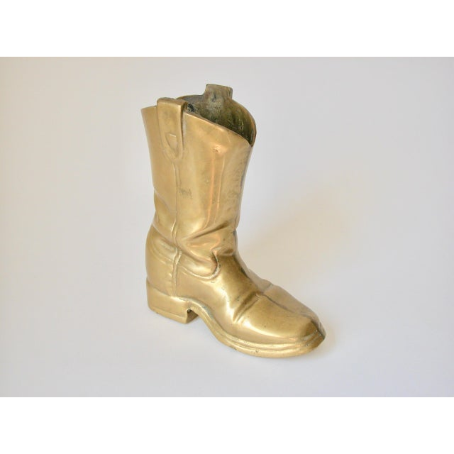 Gold Brass Cowboy Boot For Sale - Image 8 of 9