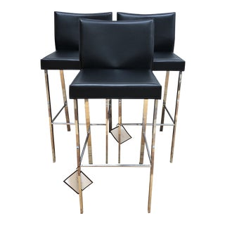 Riley-B Barstools - Set of Three For Sale