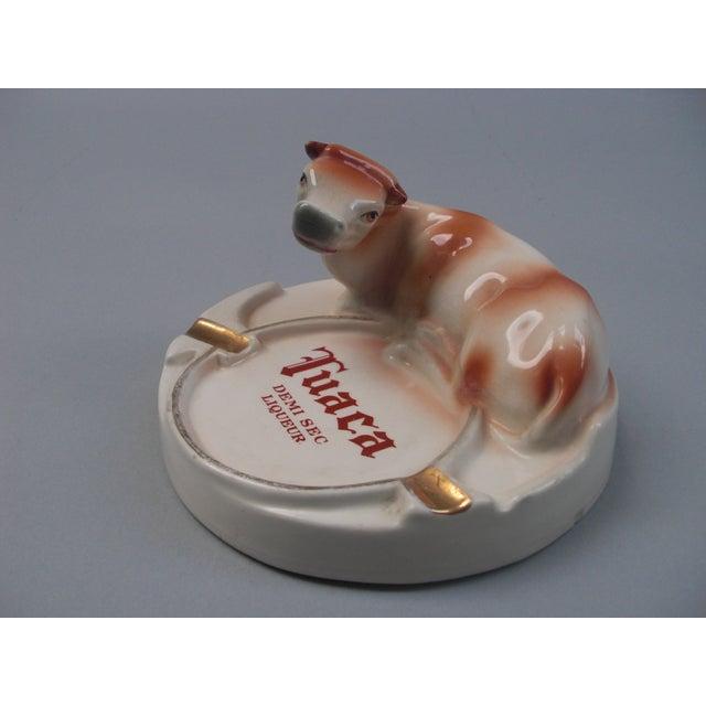 Cottage Italian Porcelain Tuaca Ashtray For Sale - Image 3 of 6