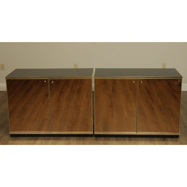 Contemporary Mirrored Door Cabinets - a Pair For Sale - Image 4 of 13