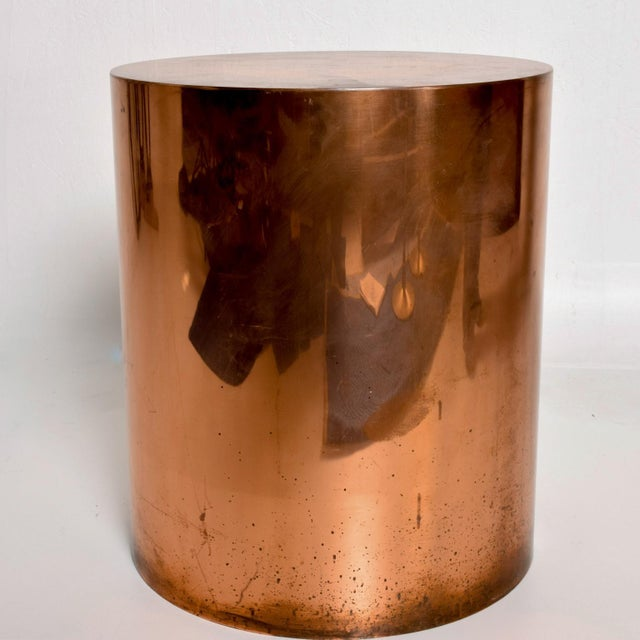 Habitat 1970s Mid Century Modern Cylinder Drum Side Table For Sale - Image 4 of 8