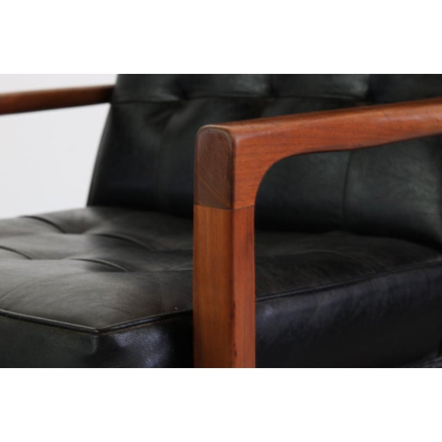 Danish Modern 1960s Vintage Milo Baughman for James Inc High Back Lounge Chair For Sale - Image 3 of 6