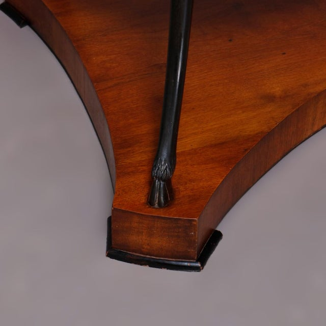 Vintage French Empire, Figural Ebonized & Gilt Mahogany Lamp Stand For Sale - Image 6 of 10