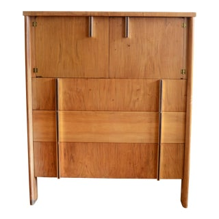 Mid-Century Dale Ford for John Widdicomb Walnut Highboy Dresser For Sale