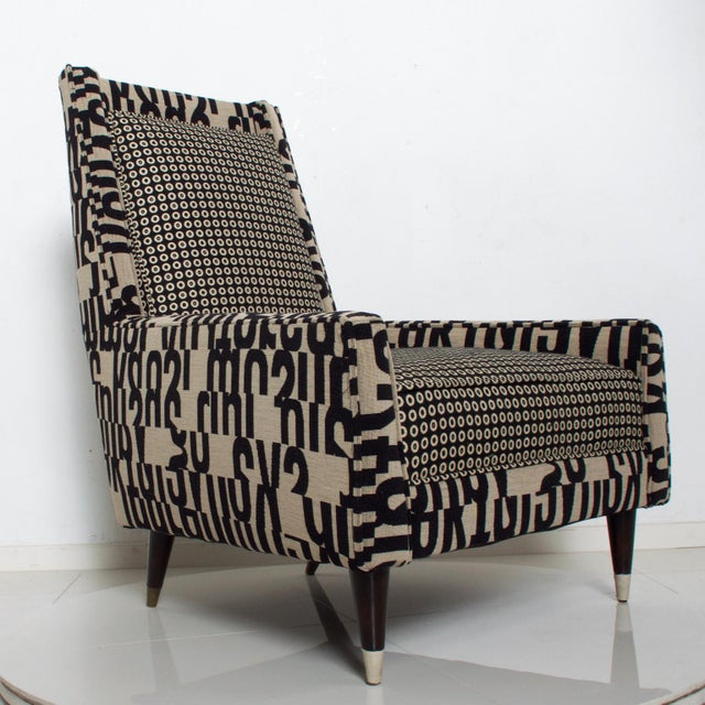Wood Gio Ponti Style by Arturo Pani Wild Wingback Lounge Chairs Midcentury Pair 1969 For Sale - Image 7 of 10