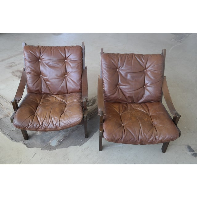 Torbjorn Afdal Mid Century Hunter Chairs - Pair For Sale - Image 9 of 10