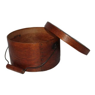 19th Century Natural Surface Bail Handled Pantry Box For Sale