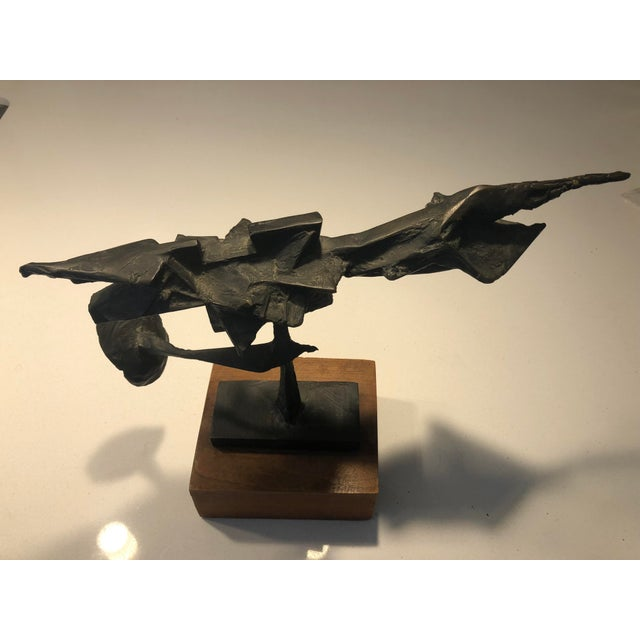 "1950s Truex American Furniture ""Curated""Abbott Pattison Bronze Sculpture For Sale - Image 5 of 5"