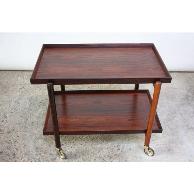 Rosewood Poul Hundevad Rosewood Modular Bar Cart For Sale - Image 7 of 13