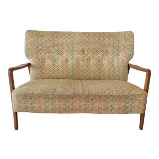 Vintage Mid Century Dux Danish Modern Settee Sofa For Sale