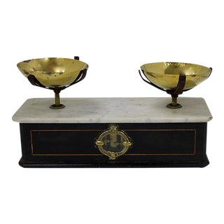 Antique French Marble & Brass Scale