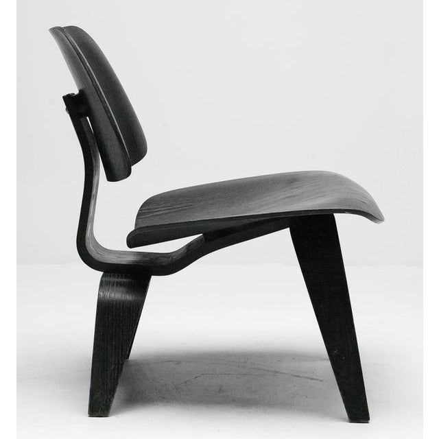 Contemporary Charles Eames Black Aniline LCW Chair For Sale - Image 3 of 8