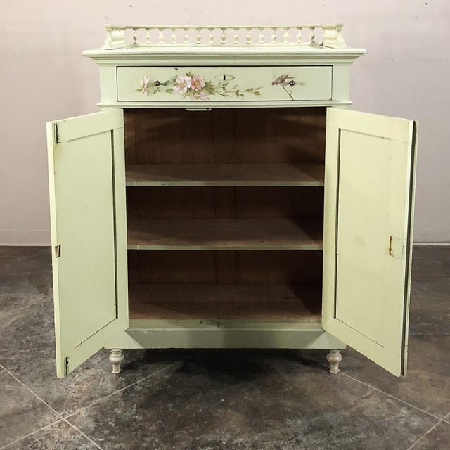 Early 20th Century Antique Belle Epoque Painted Cabinet For Sale - Image 5 of 13