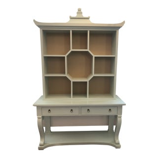 Kindel Furniture Dorothy Draper Console and Curio Cabinet For Sale
