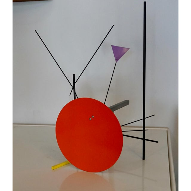 Shire was inspired by the Italian Memphis Milano movement of the 1980's.This sculpture uses the bold colors from that...