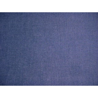 Modern Osborne and Little Castello Blue Chenille Upholstery Fabric- 6-1/8 For Sale