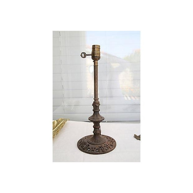Mission-Style Iron Table Lamp - Image 2 of 5