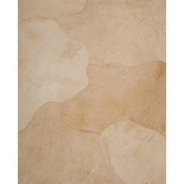 Karl Springer Rare Karl Springer Goatskin, Stainless Four-Door Tall Cabinet For Sale - Image 4 of 11
