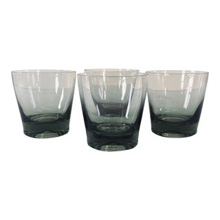 Smoked Glass Bar Tumblers, Set of 4 For Sale