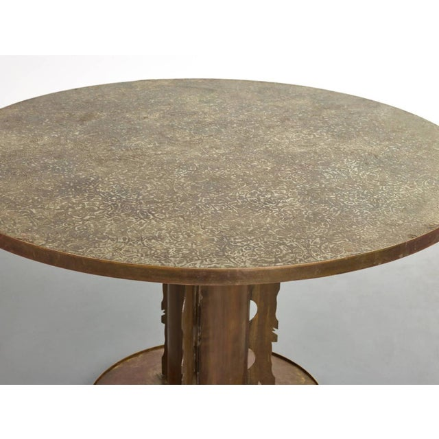 Philip and Kelvin LaVerne Phillip and Kelvin Laverne Etruscan Dining Table, 1965 For Sale - Image 4 of 8