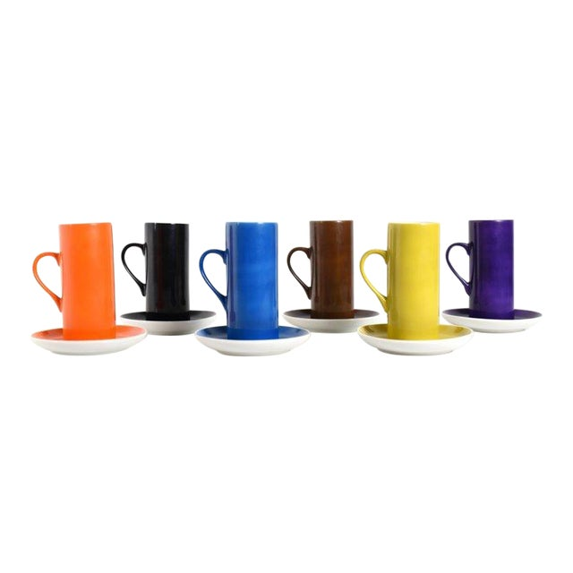 Set of 6 1960s Schmid La Gardo Tackett Demitasse Cups For Sale