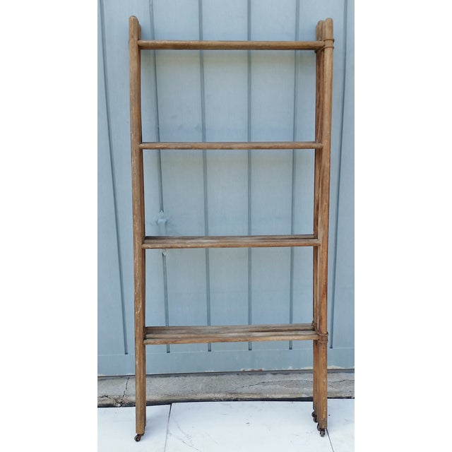 Wood & Metal Folding Rack or Screen - Image 6 of 7