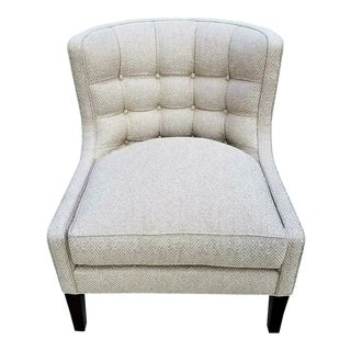 Pearson Furniture Pat Chair 220 With Woven Chevron Pattern Fabric For Sale