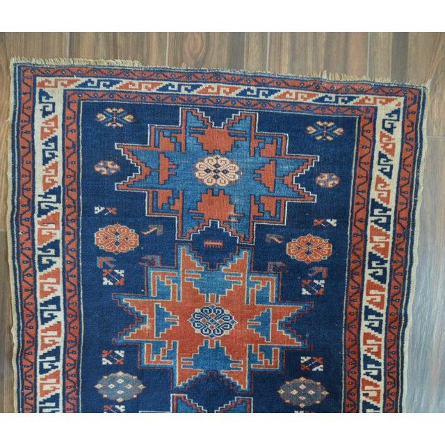 "Vintage Caucasian Kazak Rug - 3'6"" X 4'8"" - Image 4 of 9"