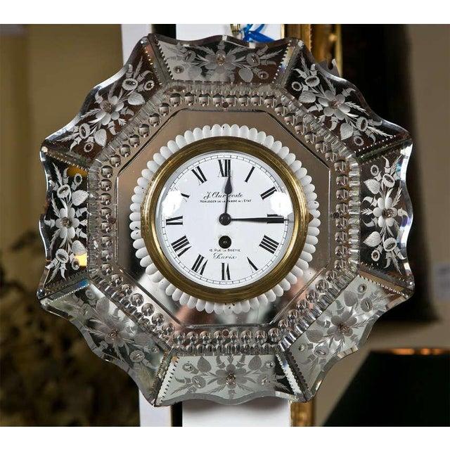 Venetian Glass Mirrored Clock - Image 2 of 7