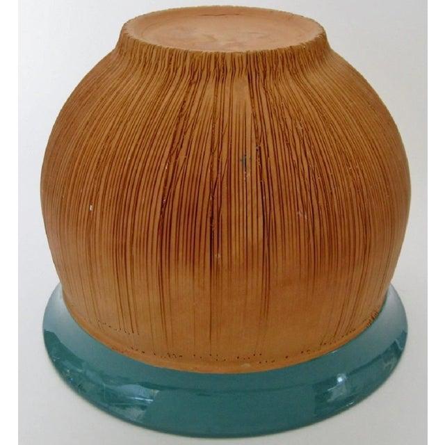 Scored Terracotta & Teal Planter - Image 5 of 5