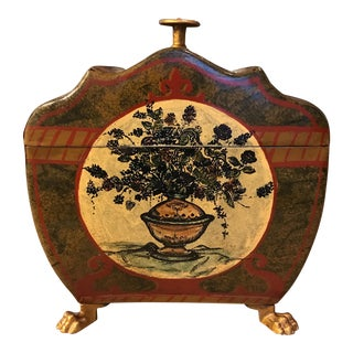 Hand Painted Italian Decorative Box For Sale