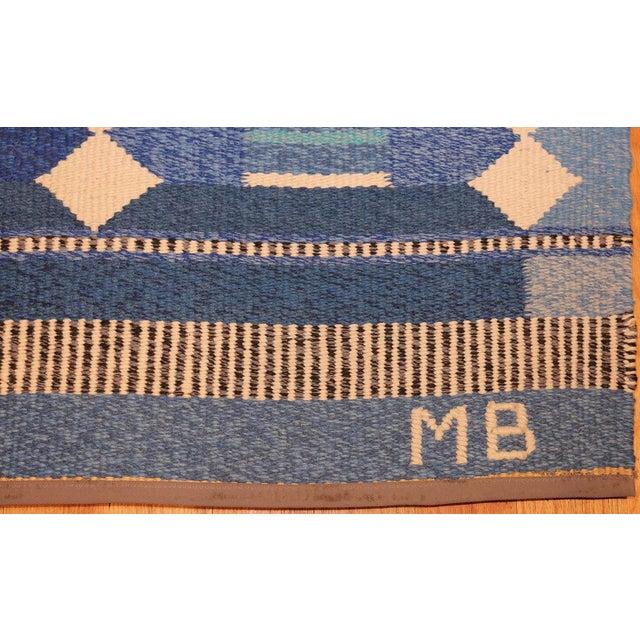 Textile Vintage Swedish Scandinavian Kilim Rug - 5′6″ × 8′ For Sale - Image 7 of 9