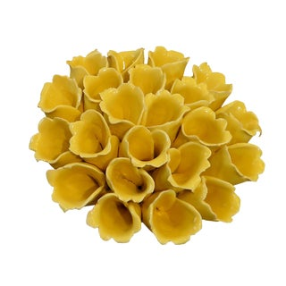 Yellow Ceramic Sea Polyp For Sale