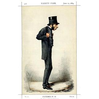 1869 George Goschen Vanity Fair Portrait Lithograph Print For Sale