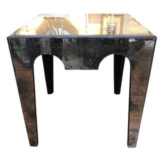 Hollywood Regency Mirrored Side Table For Sale