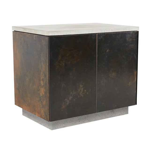 Not Yet Made - Made To Order s.o. Side Table With Cabinet Doors For Sale - Image 5 of 5