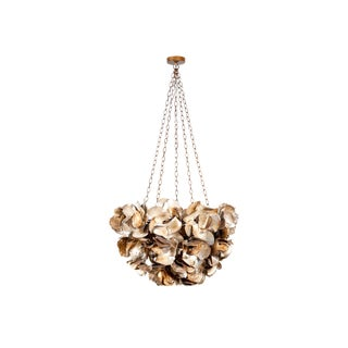 Contemporary Venus Capiz and Oyster Shell Chandelier For Sale