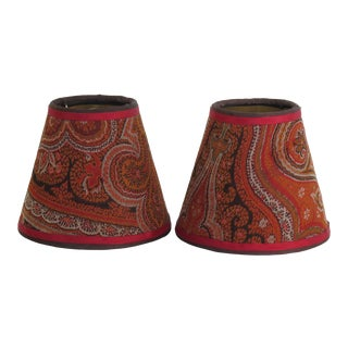 Antique Style Paisley Small Clip Top Shades- A Pair For Sale