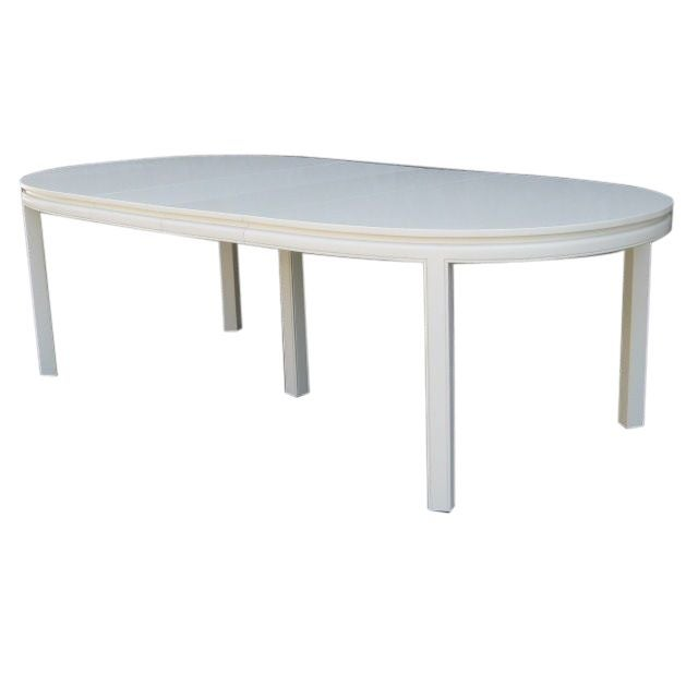Mid-Century White Lacquer Dining Table - Image 2 of 3
