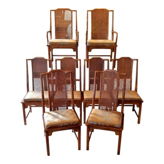 Vintage Mid-Century Chinoiserie Century Dining Chairs- Set of 8 For Sale