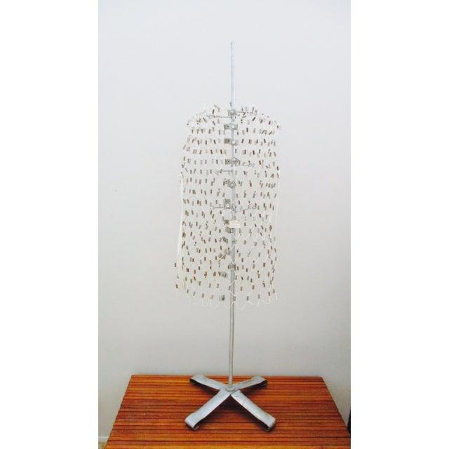 Vintage Industrial Modernist Wire Dress Form Mannequin For Sale - Image 10 of 12