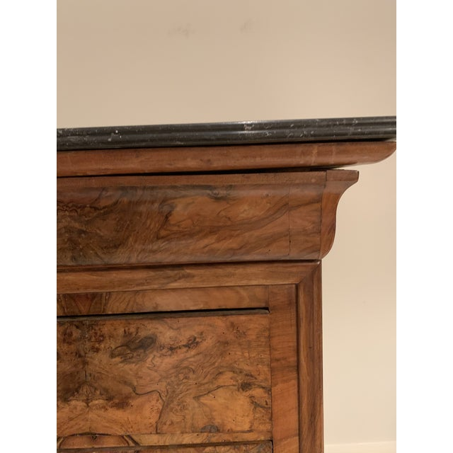 Rustic European Louis Philippe Burl Walnut Chest of Drawers For Sale - Image 3 of 8