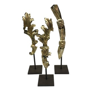Abstract Molding Fragments Sculptures - Set of 3 For Sale