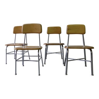 Heywood Wakefield Mid Century Children's School Chairs - Set of 4 For Sale