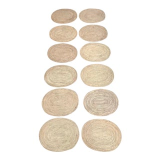 Rattan Oval Placemats - Set of 12