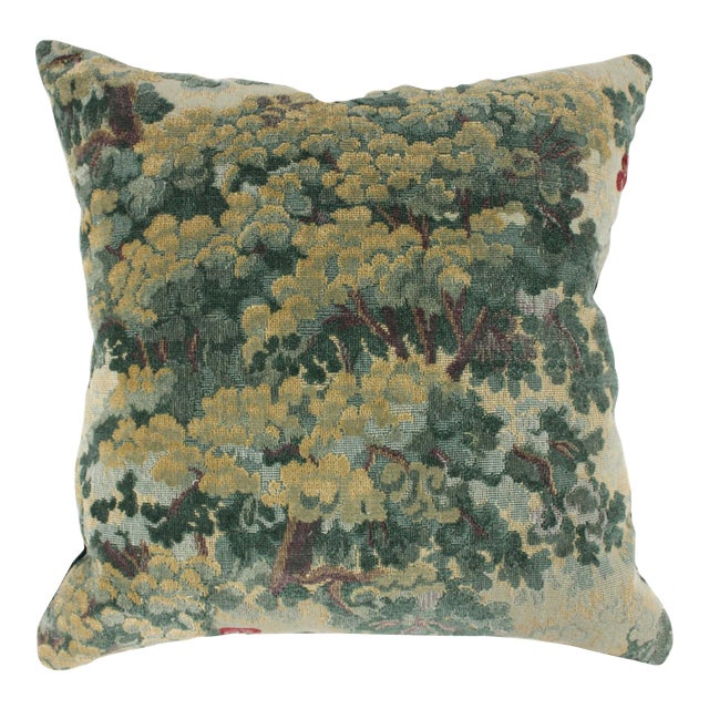 Lee Jofa Green Tapestry Throw Pillow For Sale