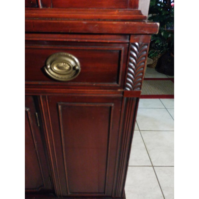 Bernhardt Mahogany Glass Front China Cabinet For Sale - Image 9 of 11