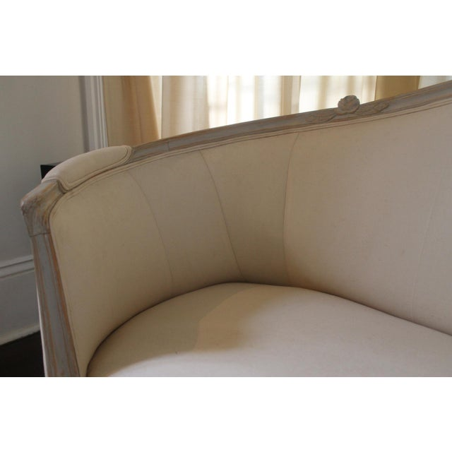 19th Century Vintage Louis XVI Style French Settee For Sale - Image 4 of 9